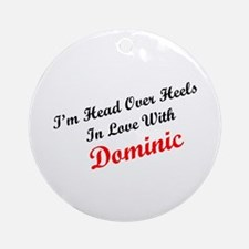 In Love with Dominic Ornament (Round)