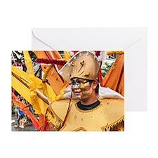 Indonesia Festival Costume 4 Greeting Card