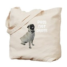 NEW-pugs-not-drugs-WonB Tote Bag