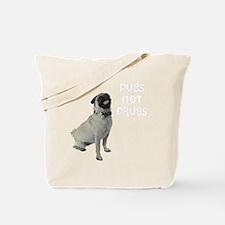 NEW-pugs-not-drugs-WonB Tote Bag