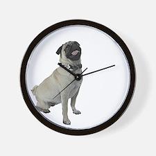 NEW-pugs-not-drugs-WonB Wall Clock