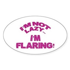 Flaring Oval Decal