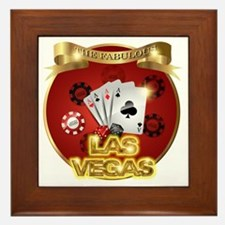 1 Gambling Vegas Framed Tile