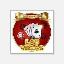 "1 Gambling Vegas Square Sticker 3"" x 3"""