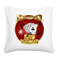 1 Gambling Vegas Square Canvas Pillow