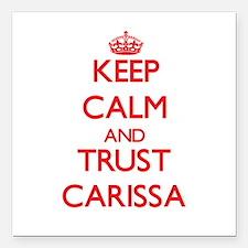 "Keep Calm and TRUST Carissa Square Car Magnet 3"" x"