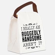 castle_handsome_black Canvas Lunch Bag