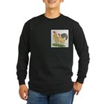Blue-tail Buff Pair Long Sleeve Dark T-Shirt