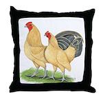 Blue-tail Buff Pair Throw Pillow