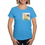 Blue-tail Buff Pair Women's Dark T-Shirt