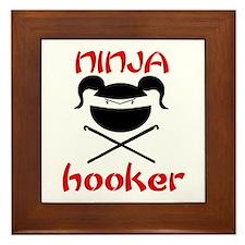 ninja hooker (crochet) Framed Tile
