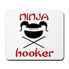 ninja hooker (crochet) Mousepad