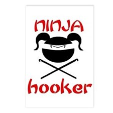 ninja hooker (crochet) Postcards (Package of 8)