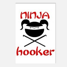 ninja hooker (crochet) Postcards (Package of 8)