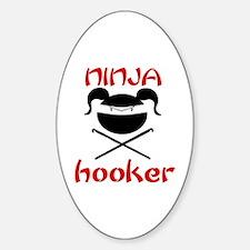 ninja hooker (crochet) Oval Decal