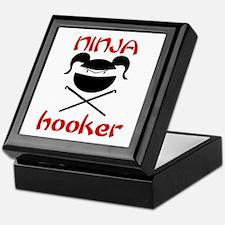 ninja hooker (crochet) Keepsake Box