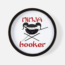 ninja hooker (crochet) Wall Clock
