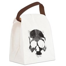 Watercolorskull Canvas Lunch Bag