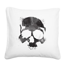 Watercolorskull Square Canvas Pillow