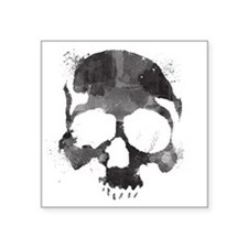 "Watercolorskull Square Sticker 3"" x 3"""
