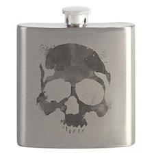 Watercolorskull Flask