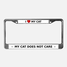 HeartMyCat License Plate Frame