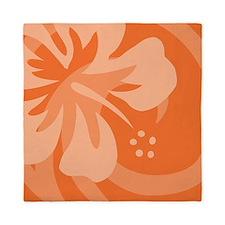Orange-Pillow Queen Duvet