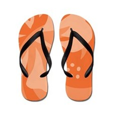 Orange-Pillow Flip Flops