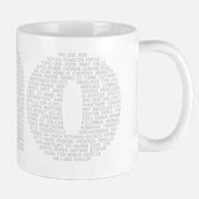 no gods no background white Mug
