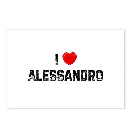 I * Alessandro Postcards (Package of 8)