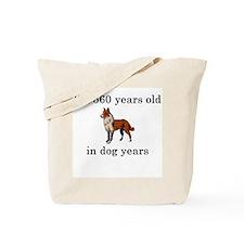 80 birthday dog years collie Tote Bag