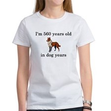 80 birthday dog years collie T-Shirt