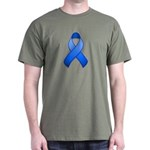 Blue Awareness Ribbon Dark T-Shirt