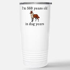 80 birthday dog years collie 2 Travel Mug