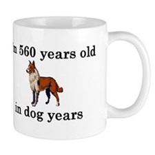 80 birthday dog years collie 2 Mugs