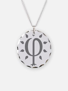PhiTree_lg_gray Necklace