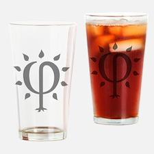 PhiTree_lg_gray Drinking Glass
