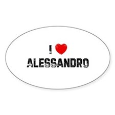 I * Alessandro Oval Decal