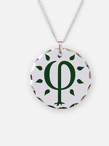 PhiTree_lg_darkgreen Necklace