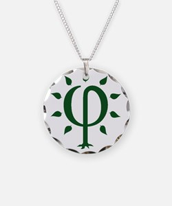 PhiTree_sm_darkgreen Necklace