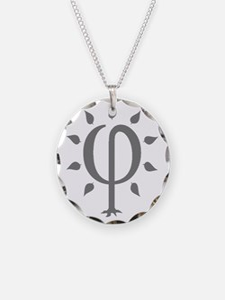 PhiTree_sm_gray Necklace