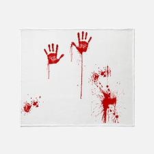 murder scene Throw Blanket
