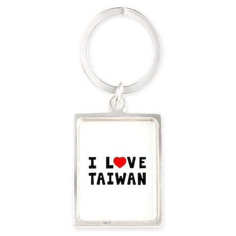 I Love Taiwan Portrait Keychain