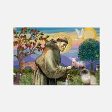 St Francis Himalayan Rectangle Magnet