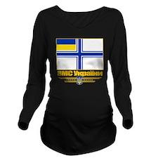 Ukraine Naval Ensign Long Sleeve Maternity T-Shirt