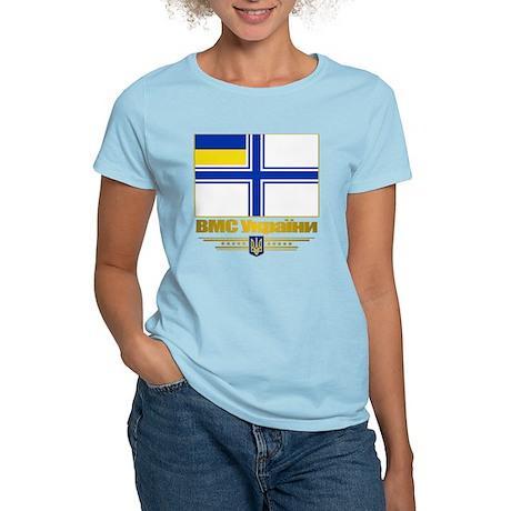 Ukraine Naval Ensign Women's Light T-Shirt