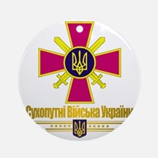 Ukranian Ground Forces (Flag 10)2 Round Ornament