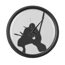 ninja2 Large Wall Clock