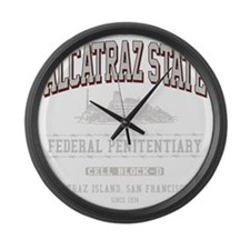 ALCATRAZ_STATE_lcp Large Wall Clock