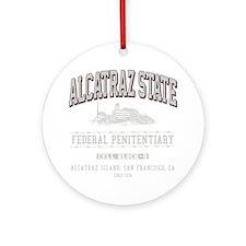 ALCATRAZ_STATE_lcp Round Ornament